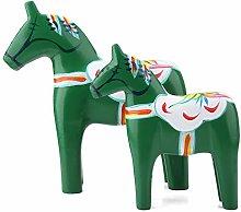 Horse Statue Ornament Dala Horse Wooden Horse