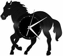 Horse (V) vinyl wall clock, vinyl record home
