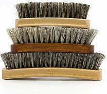 Horsehair Shoe Brush Soft Hair Brush Shoe Polish