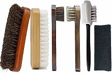 Horsehair Shoe Cleaning Brushes and Polish Set