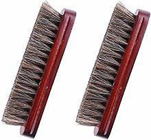 Horsehair Shoe Shine Brush, 2PCS Horse Hair