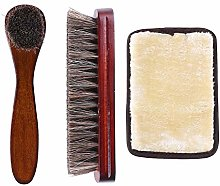 Horsehair Shoe Shine Brush Kit, Horse Hair