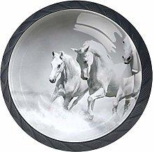 Horses Over Water Cabinet Door Knobs Handles Pulls