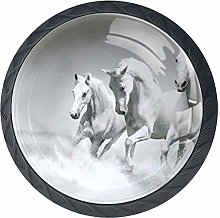 Horses Over Water Cabinet Door Knobs Handles Pulls