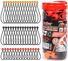 """HORUSDY 45 Pack Ball Bungee Cords, Includes 6"""","""
