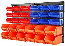 HORUSDY Wall Mounted Storage Bins Parts Rack 30PC