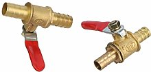 Hose Connector Fittings 2Pcs Brass 8mm 10mm Ball