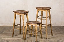 Hoskins 46cm Bar Stool Union Rustic