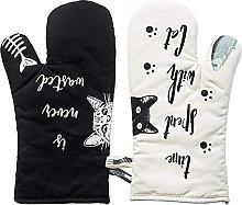 Hospaop Cat Oven Gloves, Baking Gloves, Oven Mitt