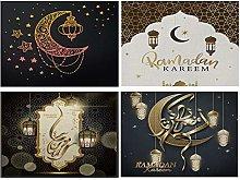 HOSTECCO Ramadan TableMats Set of 4 No-slip