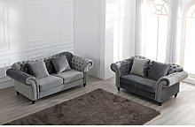 Hosteen 2 Piece Sofa Set Canora Grey Upholstery