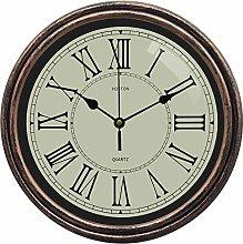 HOSTON 12 Inch Retro Round Wall Clock Silent