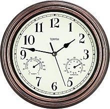 HOSTON 12 Inch Rustic Wall Clock Silent non