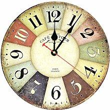 HOSTON Vintage Wall Clock Silent Non-Ticking