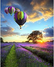 Hot air Balloon Landscape Painting Digital Modern