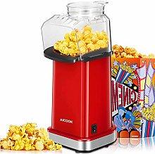Hot Air Popcorn Maker 1400W, AICOOK Electric Home