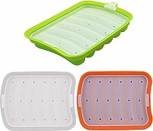 Hot Dogs Silicone Mold with Cover 3 PCS Ham Baking