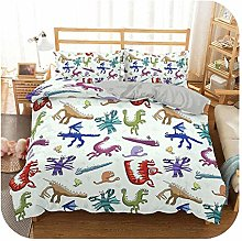 HOT-house Baby Bed Sheet Set, 3d Dinosaur Family
