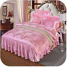 HOT-house Baby Cot Bedding Set, 4Pcs Satin