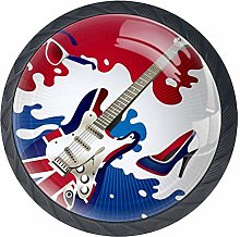 Hot Music Party Guitar Cabinet Door Knobs Handles