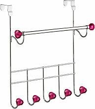 Hot Pink 5 Hooks Over Door Hanger - Premier