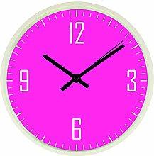Hot Pink Modern Wall Clock, Quiet Tick Sweep