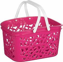 Hot Pink Plastic Storage Basket/ 2.4 Ltr/ Made