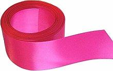 Hot Pink Satin Ribbon - 50mm Wide - 5 Meter - GCS