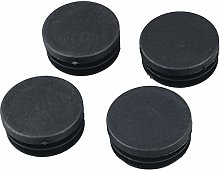 Hot Sale 4 Pcs Black Plastic 40mm Dia Round Tubing