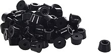 Hot Sale 60 Pcs Universal Tapered Black Rubber