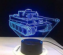 Hot Sale Cool 3D Machine Tank Table Lamp Desk