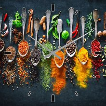 Hot Spices in the Kitchen Wall Clock East Urban