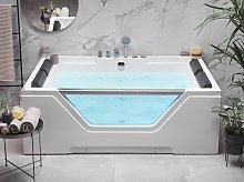 Hot Tub White Acrylic Hydromassage Bath Whirlpool