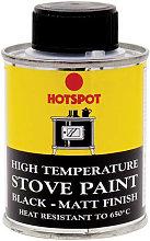 HOT201010 Stove Paint Matt Black 100ml - Hotspot