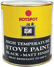 HOT201040 Stove Paint Matt Black 500ml - Hotspot