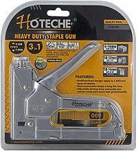 Hoteche 170102Manual Stapler 3in 1, Chrome,