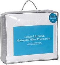 Hotel Collection Luxury Like Down Mattress And Pillow Protector Set