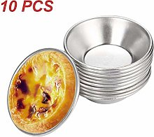 HOTEU Thicker Cake Cup Egg Tart Pudding Moulds DIY