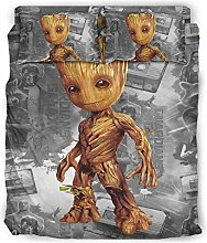 Hothotvery 4 Piece Bedding Sets Printed Baby Groot
