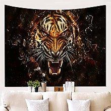 Hotniu 3D Tiger Tapestry Wall Hanging - Wild Tiger