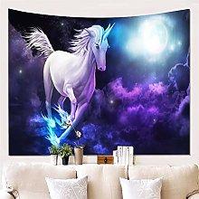 Hotniu 3D Unicorn Tapestry Wall Hanging -