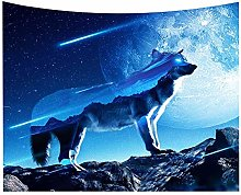 Hotniu 3D Wolf Tapestry Wall Hanging - Popular