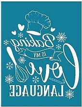 HOTPINK1 Baking is My Love Language Self-Adhesive