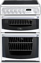Hotpoint CH60EKWS 60cm Double Oven Electric Cooker