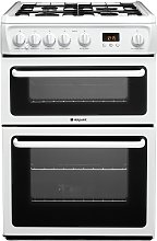Hotpoint HAG60P 60cm Double Oven Gas Cooker - White
