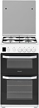 Hotpoint HD5G00CCW 50cm Double Oven Gas Cooker -