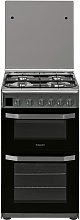 Hotpoint HD5G00CCX 50cm Double Oven Gas Cooker -