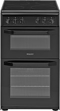 Hotpoint HD5V92KCB Twin Cavity Electric Cooker -