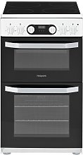 Hotpoint HD5V93CCW 50cm Double Oven Electric