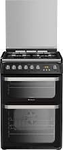 Hotpoint HUD61KS 60cm Double Oven Dual Fuel Cooker